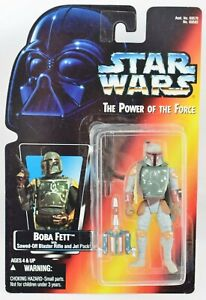 Star Wars Power of the Force POTF2 (RED) - BOBA FETT Rare Half Circle Hands MOC