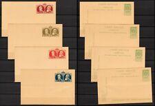 4 postkaarten BELGIE blanco. Ongebruikt. Leopold I en II, 5 ct groen (BEL 385)