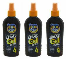 3x Ocean Potion Spray Gel Suncare Dark Tanning SPF 4  8.5 OZ. Oil Free Sun Tan