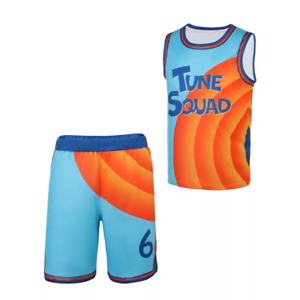 Lebron James Tune Squad Uniform Space Jam 2 New Legacy Basketball Jersey Costume