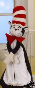 "Dr Seuss Cat in Hat plush DIAPER STACKER NEW rare 27"" long baby shower nursery"