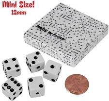 LOT of 200 Mini Size White Opaque Dice 12mm