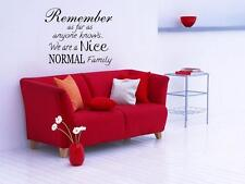 A NICE NORMAL FAMILY Wall Decal Words Lettering Quote Sticker Stencil Home 48""
