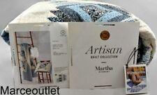 Martha Stewart Collection Artisan Bluebell Patchwork Full / Queen Quilt Blue