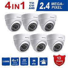 Anpviz (6 set) Dome CCTV Camera 2.4MP 4 IN1 TVI AHD CVI CVBS 1080P Outdoor 3.6mm
