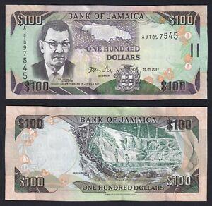 Giamaica 100 dollars 2007 FDS-/UNC-  B-09