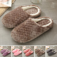 Unisex Winter Warm Fleece Slippers Fluffy Plush Sandals Indoor Home Casual Shoes