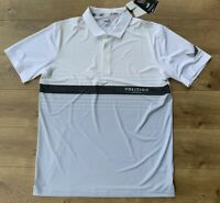 PUMA Volition Horizon Golf Polo Shirt Heather Gray White USA SZ M ( 577959 05 )