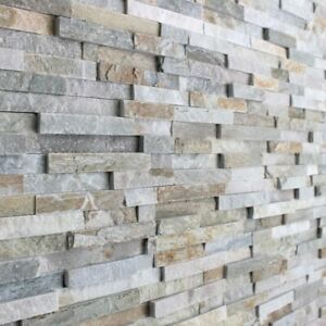 Oyster 3D Split Face Natural Slate Wall Tiles Feature Walls & Cladding - Sample