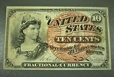 1863 US 10 Cents Fractional Currency Fourth Issue