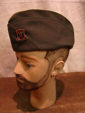 WW2 Vintage US MILITARY WOMENS OVERSEAS GREEN GARRISON CAP SUPPORT DEFEND PIN
