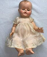 "Vintage Madam Alexander doll 1950's Kathy Baby 16"" Wet Dry Squeaks VTG"
