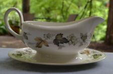 Royal Doulton Larchmont Handled Gravy Boat With Underplate