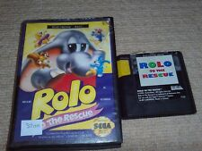 ROLO TO THE RESCUE  - Rare Boxed Sega Mega Drive Game