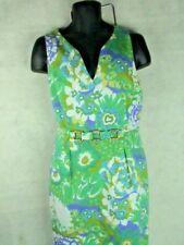 CARLISLE Sleeveless Multi-Color Spring Summer Casual Floral Sheath Dress Size 14