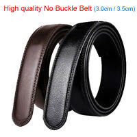 "Large size 30""-57"" High quality Mens Leather Belt No Buckle Belt Width 3.0-3.5cm"