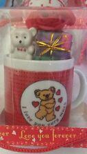 Tazzina in Ceramica da Caffè - San Valentino Cuore e Orsetto - Idea Regalo Nuova