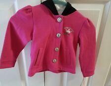 #372 NWT Harley-Davidson girls fleece hoodie, size 3T, pink/black