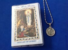 OXIDISED MEDAL IN PRESENTATION WALLET MARY OUR LADY OF LOURDES