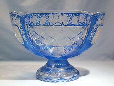 Antique Bohemian Cut Glass Center-Piece Grape-Vine Motif Circa 1890s