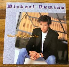 Michael Damian Where Do We Go From Here Rare promo 12 x 12 poster flat 1989