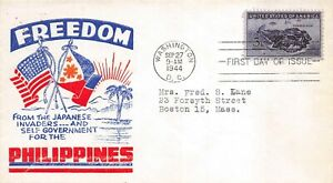 925 3c Philippines, Poppenger cachet in red and blue [072720.148]