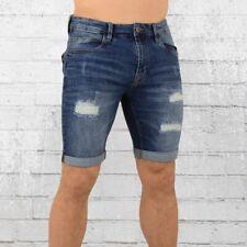 Indicode Männer Jeans Short Kaden Holes blau Herren Denim Shorts Men's pants