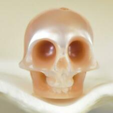 9.82 mm Human Skull Carving Mauve Freshwater Pearl 1.00 g vertically drilled