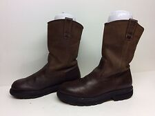 VTG MENS WOLVERINE WORK LEATHER BROWN BOOTS SIZE ?