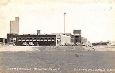 Estherville Iowa~Meat Packing Plant~Cars Parked Around Factory~1942 RPPC