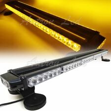 32 Inch 66W Amber LED Warning Emergency Beacon Double Side Roof Strobe Light Bar