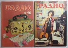 LOT 2 pcs Soviet Radio Vintage Magazines sale 1990 Russian Used magazine