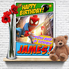 EXTRA LARGE Spider-Man **Personalised A4 Birthday Card** Spiderman FAST Shipping