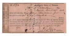1864 Confederate States of America $500 Idr No.693 Staunton, Va James Bumgardner