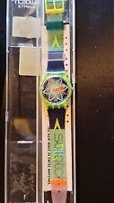 Vintage Swatch watch - Boxed - 1992 Vintage Swatch Watch Wave Rebel GJ107 Diamet