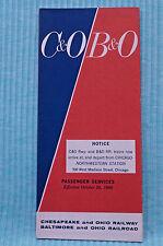 C&O / B&O - Time Table - Oct. 26, 1969