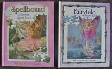 Shirley Barber's JIGSAW  PUZZLES story BOOKS x 2  ~ FAIRYTALES + SPELLBOUND  H/C