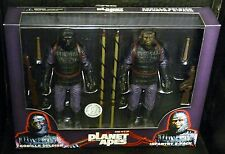 "Planet of the Apes GORILLA SOLDIER INFANTRY 2-PACK New! 7"" Figures"