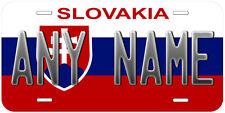 Slovakia Flag Aluminum Personalized Customized Novelty Car License Plate
