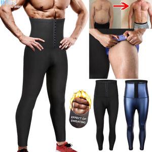 Men&Women Body Shaper Thermo Sweat Sauna Pants Waist Trainer Slimming Leggings