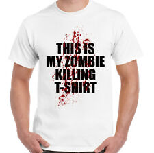 This Is My Zombie Killing T-Shirt Mens Funny Halloween Top Monsters Walking Dead