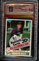 Rare 1979 Topps Baseball Cello Unopened Pack Graded GAI 9.5 GemMint Ozzie Smith?