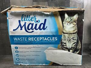 Litter Maid Cat Kitty Waste Receptacles 15 Count- Open Box New SOLD AS IS