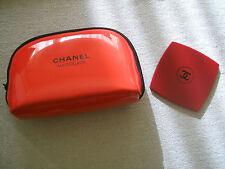 Chanel pocket mirror and make-up bag