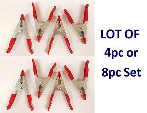 "LOT 4pc / 8pc Spring Clamp 4"" Heavy Duty Metal Nonslip Grip Woodwork Welding Set"