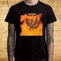 New Grand Funk Rock Band Phoenix Album Logo Men's Black T-Shirt Size S-3XL