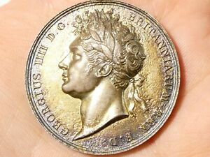 1821 George IV Coronation Commemorative Silver Medal 35mm #T2275