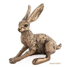BRONZE HARE TANYA Alert Thomas Meadows Frith Cold Cast Sculpture COUNTRY GIFT