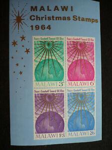 Stamps - Malawi - Scott# 21a - Souvenir Sheet Imperf