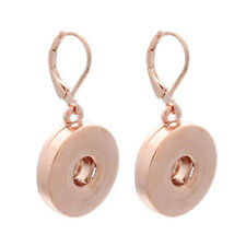2018 Hot 1 pairs Stainless Steel Snap Button Earring Fit Noosa Charm jewelry